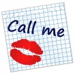 Call me — Vector de stock