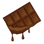 Flowing chocolate drops. — Stock Vector
