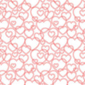 Seamless pattern with hearts, vector — Stok Vektör