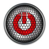 Silver button start, vector — Stock Vector