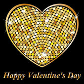 Heart of gold - Happy Valentine's Day — Stockvector
