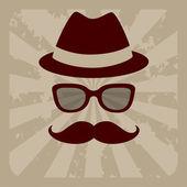 Hipster man — Stock Vector