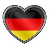 Niemcy błyszczący flaga serca — Wektor stockowy