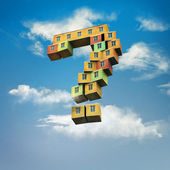 Mortgage loan - flying house — Stock Photo