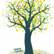 Royalty-Free Stock Imagem Vetorial: Autumn tree vector illustration