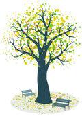 Autumn tree vector illustration — Stock Vector