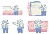 Boss giving orders vector illustration — Stock Vector