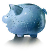 Piggy bank and safe — Stock Photo