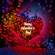 Abstract valentine background with hearts — Stock Photo