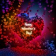 Abstract valentine background with hearts - Stok fotoraf