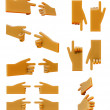 Pointing hand 3d icon set — Stock Photo #26472735