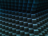 Abstract cubes pattern 3d-generated background — Stock Photo
