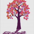 Pink decorative tree isolated vector illustration — Stock Vector #38033517