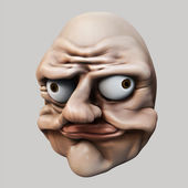 Trollface. Internet troll 3d illustration — Stock Photo