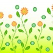 Royalty-Free Stock Imagen vectorial: Green flower
