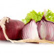 Red onion isolated — Stock Photo