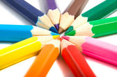Colored pencils isolated — Stock Photo