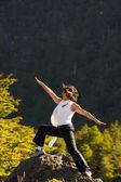 Woman exercising — Stock Photo