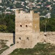 Tower of Clement VI, XIV century Genoese fortress in Theodosia, Crimea, Ukraine — Stock Photo