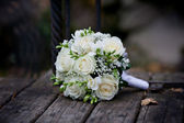 White Rose Bouquet — Stock Photo