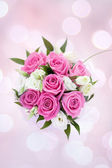 Pink roses bouquet — Stockfoto