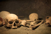 Macabre archaeological scene — Stock Photo