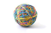 Isolated rubber band ball — Stock Photo