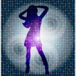 Beautiful dancing girl — Stock Vector