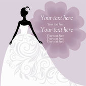 Bride in a white wedding dress — Stock Vector