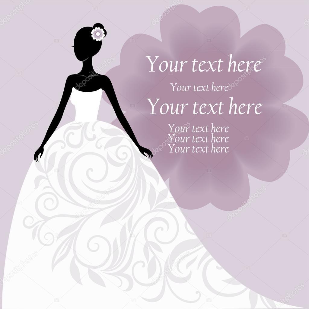 Bride in a white wedding dress stock vector svribalka Wedding dress vector