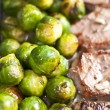Veal steak with Brussels sprout — Stok fotoğraf