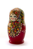 Matryoshka on a white background — Stok fotoğraf