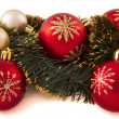 Decorations on the Christmas tree — Stock Photo