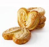 Kalp şeklinde kurabiye — Stok fotoğraf