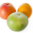 Grapefruit, orange, and sweetie — Stok fotoğraf