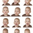 Twelve images of child — Stock Photo