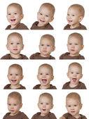 Twelve images of child — Stock Photo