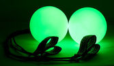 Luminous poi - equipment for juggling — Stock Photo