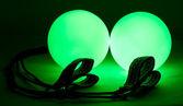 Luminous poi - equipment for juggling — Stock Photo