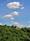 View of the mountain three crosses, Vilnius, Lithuania — Foto Stock