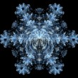 Fractal - Snowflake — Stock Photo