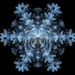 Stock Photo: Fractal - Snowflake