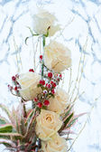 Glaciated white roses — Stock Photo