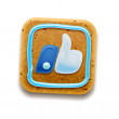 Cookie Thumbs Up icon, vector Eps10 illustration - Stock fotografie