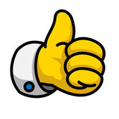 Cookie Thumbs Up icon, vector Eps10 illustration — Stock Photo