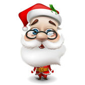 Santa Claus on white background — Vettoriale Stock