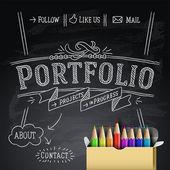 Plantilla de diseño web, ilustración vectorial eps10. — Vector de stock