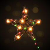 Christmas star background, eps10 vector image — Stock Vector