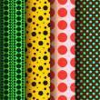 Seamless patterns, polka dots set — Stock Vector