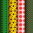 Seamless patterns, polka dots set — Stock vektor
